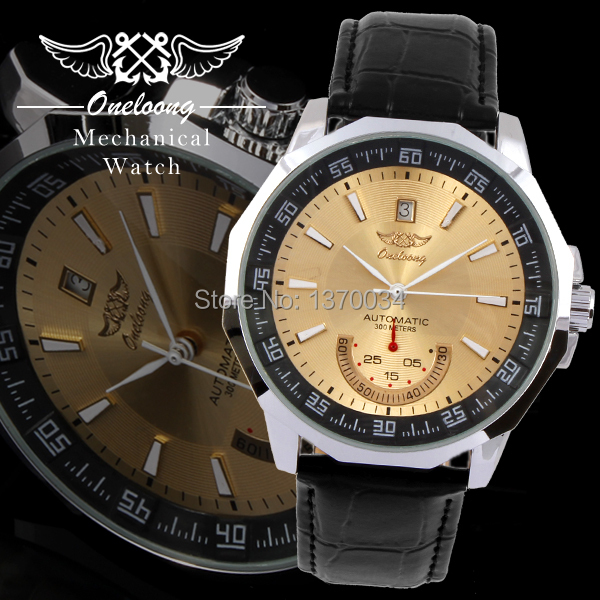 New Arrival 2014 Automatic Self-Wind Leather Strap Complete Calendar Mens Fahion Watches 5 Colors Free Shipping<br><br>Aliexpress