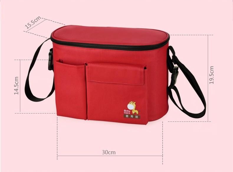 Мода термостат поддержание температуры коляска мешки по беременности и родам мать пеленки сумки плеча многофункциональный мешок ребенка
