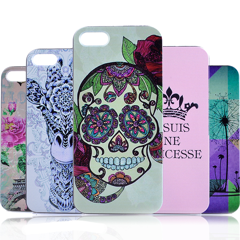 Apple Iphone 5 5S SE New Advanced Hard PC Protection Cover Painting Plastic Case Drop Resistance Back Cover i5 i5s Bag Shell