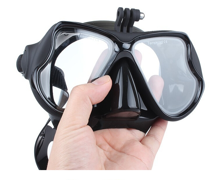 1pc optical scuba diving mask Xiaomi gopro camera diving mask tempred glass myopia lens diving mask for swimming/diving snorkel(China (Mainland))