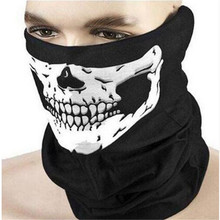 10 X Men Women Cool Skull Design Adults Multi Function Ski Sport Motorcycle Biker Scarf Half Face Mask Sport Headband(China (Mainland))