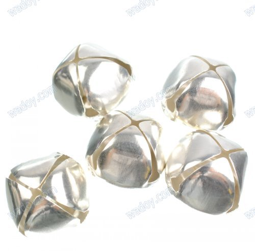 """30Pcs 1""""(25mm) Silver Metal Jingle bells for Christmas decoration AE00857(China (Mainland))"""