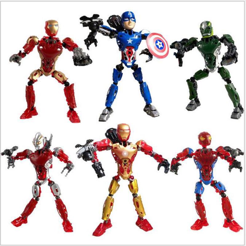 New Child Educational Toys Assembled Avenger Iron Man / Green Giant DIY Deformed Robot Boys Halloween Gift Wholesale X47(China (Mainland))