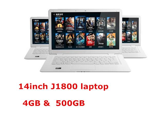 14inch laptop computer 4GB 500GB Celeron J1800 Celeron 2.41Ghz dual core Windows 8 ultra thin notebook computer WIFI webcam(China (Mainland))
