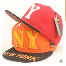 New Hot Sale Letter Ny Baseball Cap Hip Hop Adjustable Snapback Flat Cap Outdoor Casual Sports Sun Hat For Free Shipping(China (Mainland))