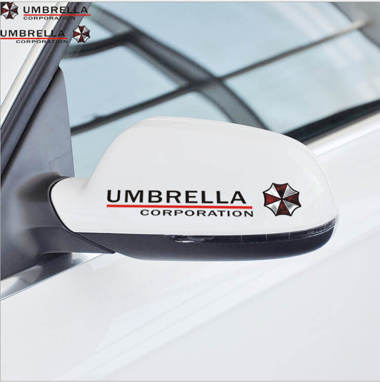 Special Offer Rushed Head Words Car Styling Resident Evil Umbrella Corporation Sticker 2 Colors(China (Mainland))