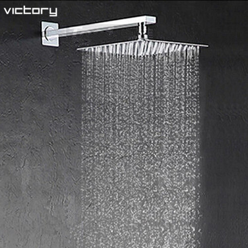 10 inch head shower with arm 25*25cm shower head with arm water saving shower head rainfall bathroom shower(China (Mainland))