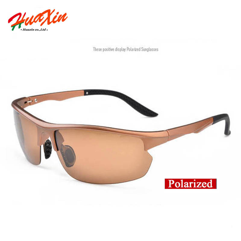 Polaroid Sunglasses Men Polarized Driving Sun Glasses Brown Frame and brown lens Male Sunglasses oculos de sol masculino TR901-3(China (Mainland))