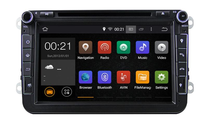 8 inch Quad Core Pure Android 5.1 2 Din Car DVD For VW JETTA Tiguan Passat B6Touran Caddy Amarok Golf EOS DAB Bluetooth GPS(China (Mainland))