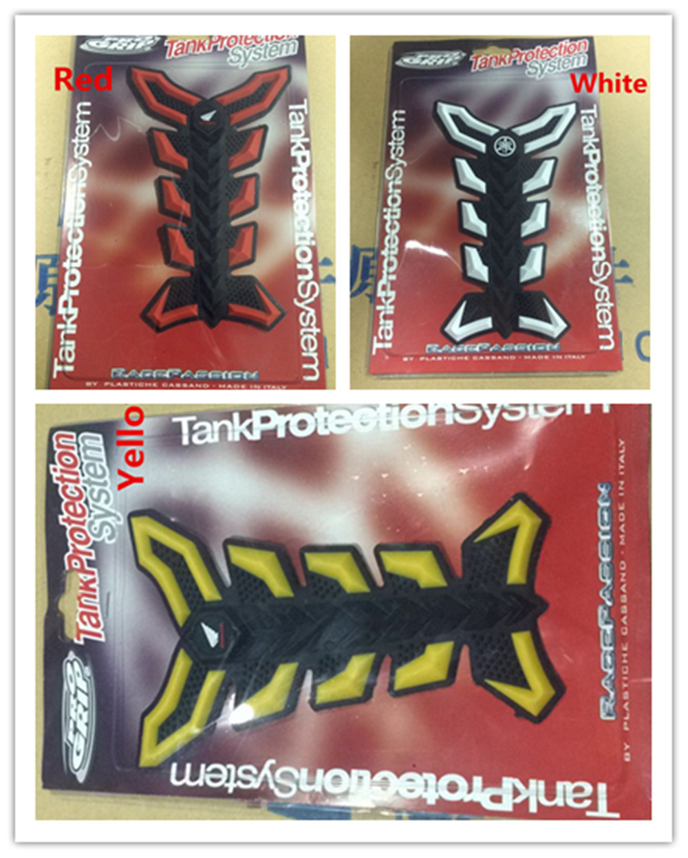 Motorcycle fuel tank decals 3D Stickers yellow red white<br><br>Aliexpress