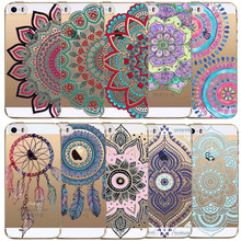 Transparent TPU Colorful Floral Paisley Flower Mandala Henna Back Cases Cover iphone 5 5s SE fundas Phone cases Accessories - poplar1115 store