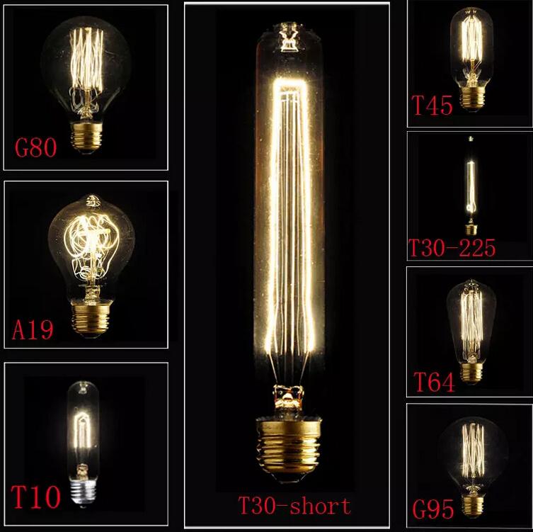 HOT NEW E27 40W Vintage Retro Filament Edison Tungsten Light Bulb Antique Style Lamp Lig Squirrel-cage Led Filament Bulb(China (Mainland))