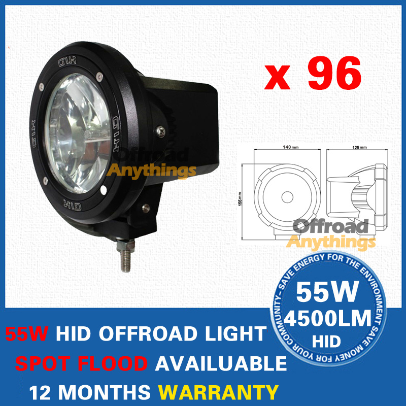 "96X 4"" Spot/Flood Beam Truck/Boat Fog Lamp 100W Hid Driving Lights HID Off Road Light Xenon Work Lighting Offroad Car Lamp(China (Mainland))"