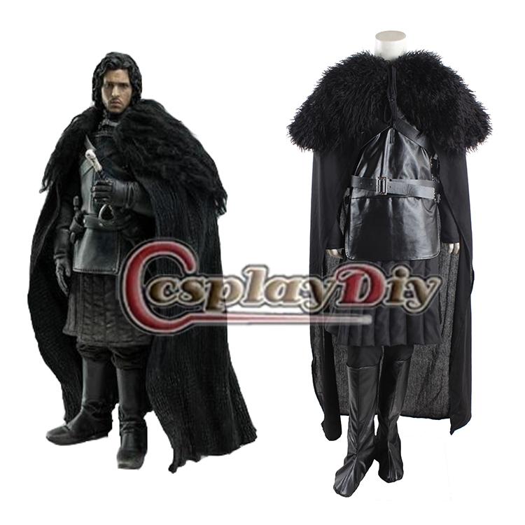 Deluxe Game of Thrones Jon Snow Cosplay Costume Version 3 Adult Men's Halloween Cosplay Costume