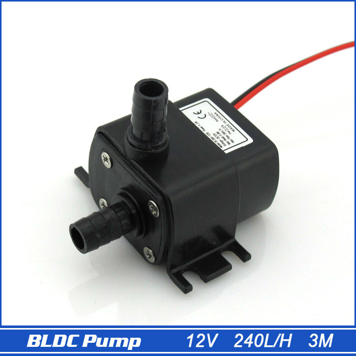 12V Mini DC Pump, 240LPH, 3M 4.2W, Submersible, Super long life>30000 hours, Fountain, Aquarium, Water Circulating(China (Mainland))