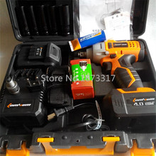 4000ma electric impact wrench rechargeable lithium electric wrench equipped with an electric drill conversion head