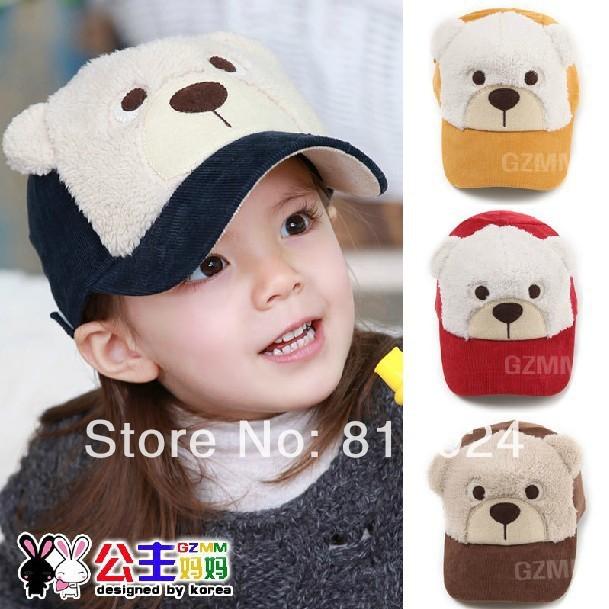 1 пк младенцы шляпы весна хлопок детские комикс винни дети в аксессуары дети бейсбол кепка мальчики девочки солнца кепка