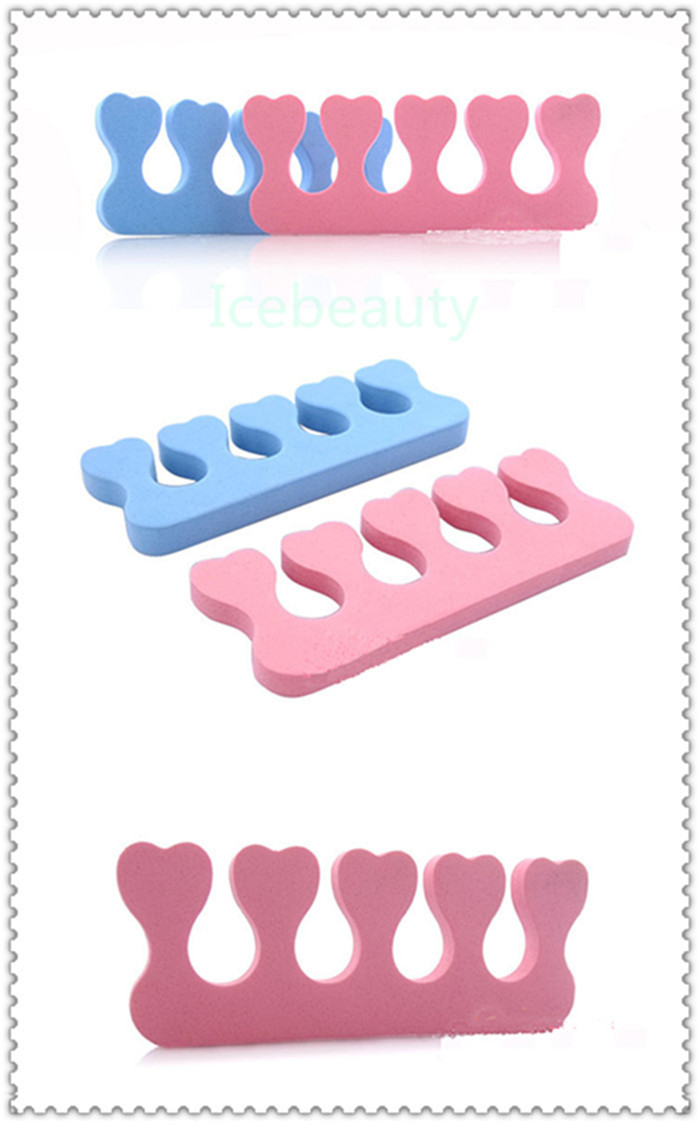 10PCS/LOT Free Shipping EVA Foam Toe Finger Separator Feet CareToe Separator Soft Foam Nail Tools Braces & Supports Nails Tools(China (Mainland))