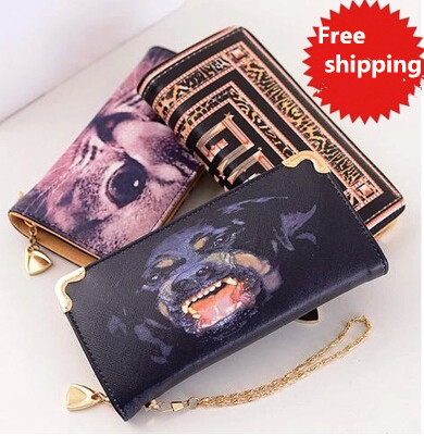 2015 women fashion zipper vintage animals wallets party handbags long casual coin purse for lady and babygirl(China (Mainland))