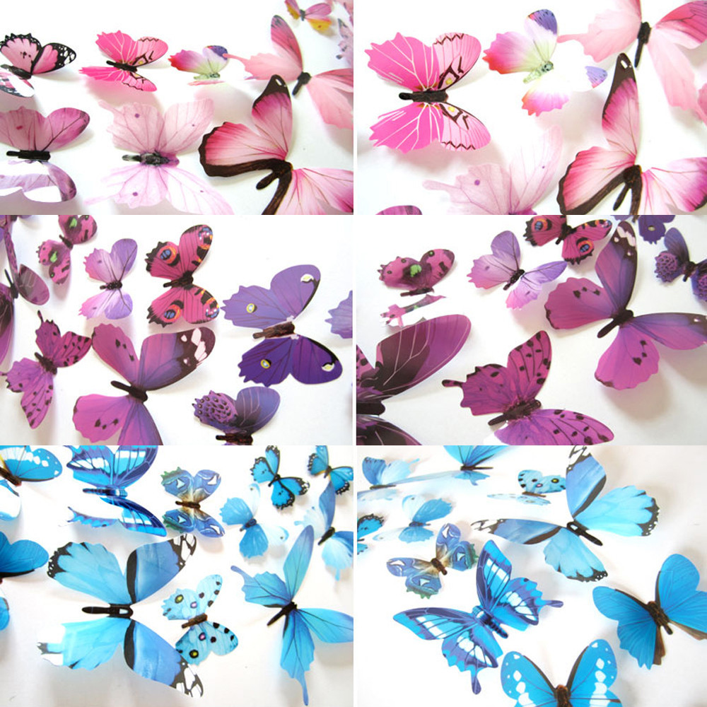 3D DIY Wall Sticker Stickers Butterfly Home Decor Room Decorations New Free Shipping Nov29