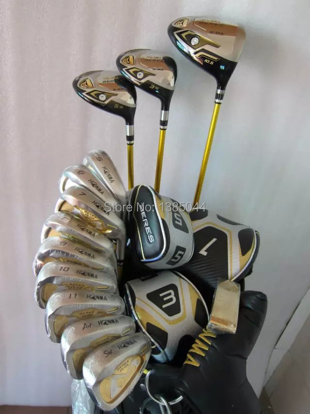 Honma Beres S-03 Golf clubs Driver+fairway wood+IS-03 irons+ putter complete set of clubs with graphite shaft Free shipping(China (Mainland))