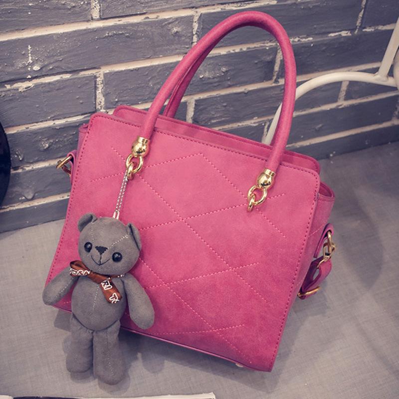 2016 new Shoulder Bag Messenger Bag Tote Bag female fashion personality PU fabric purple grey red wings cortex(China (Mainland))