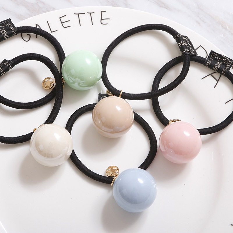 2016 New Korean Summer Hair Accessories For Women Girls Ice Cream Color Hair Rope Fashion Simple Sweet Balls Hair Band XZ-AJD031(China (Mainland))
