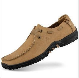 2015 Flats New Arival Authentic Camel Brand Casual Men Genuine Leather loafers Shoes Plus size 38-47 Handmade moccasins shoes