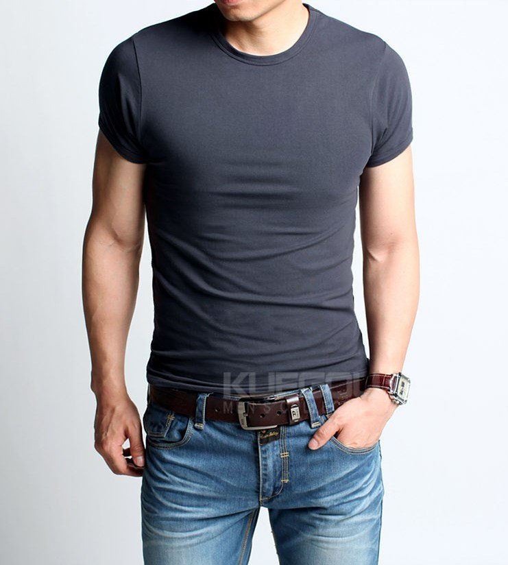 Men T Shirt Fashion high elastic man t shirt