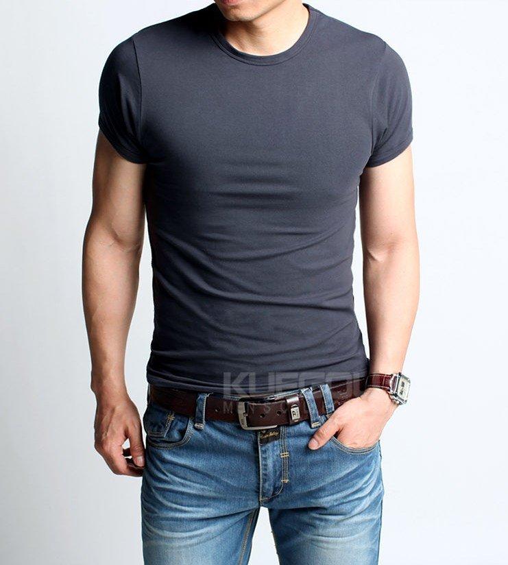 Men T Shirt Fashion high elastic man t shirt