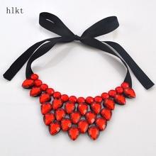 Hlkt трещины, в форме сердца смолы ожерелье модные аксессуары краткое заявление ожерелье подарок оптовые женщины(China (Mainland))