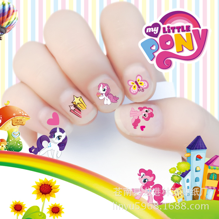 2017 New arrive korea Water Transfer Nails Sticker my little pony Design Nails Foil Sticker Decor Decals for children(China (Mainland))