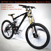 """21/24/27/30 Speeds 26""""*17.5"""" Damping Full Suspension Fork 26""""*2.35 Downhill Bicicletas Oil Disc Brake Bicicleta Mountain Bike 26(China (Mainland))"""