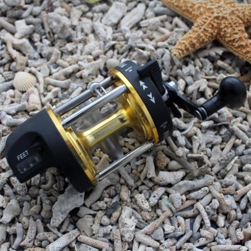 AT500 Fishing Baitcasting Reel Bait Caster 3BB For Salt Water ( Standard ) Fishing Aluminium Spool High Speed 3.8:1