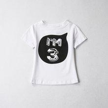 ใหม่แบรนด์ฤดูร้อนเสื้อผ้าเด็ก 1-4 ปีชายหญิง T เสื้อ Tops Tees เสื้อยืดเด็กเด็กวัยหัดเดินเด็ก first Birthday ...(China)