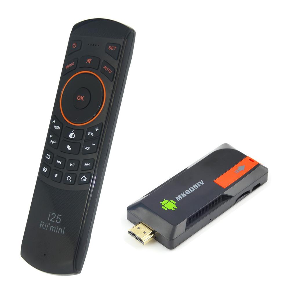 { MK809IV + Rii i25 } Russia keyboard air mouse + RK3188T Android TV Box Quad Core Mini PC A7 1.4Ghz Bluetooth 2G/8G MK809 IV(China (Mainland))