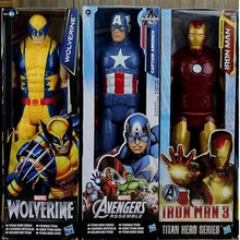 The Avengers 5″ Captain America Wolverine Spiderman Marvel Iron Man Action Figures 12″ 30CM PVC Superhero IronMan Toy