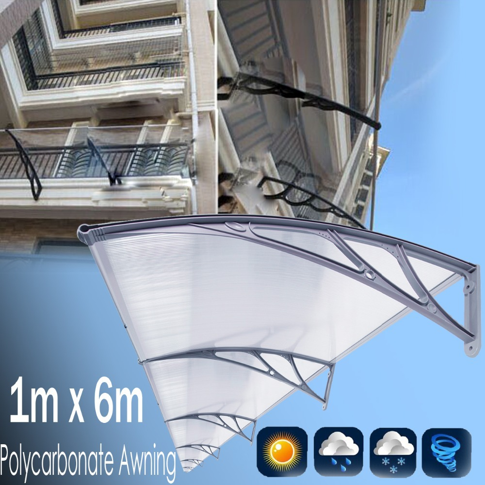 1m x 6m polycarbonate awning cover outdoor diy awning - Homemade awning for patio ...