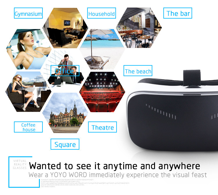 2016 New VR All in One Andriod 5.1 CPU RK3288 5.5 inch FOV93 with HDMI & 3D HIFI Loudspeaker 3D VR Virtual Reality VR Headset