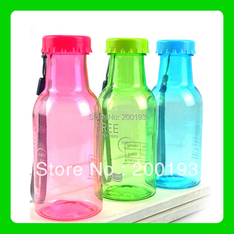 SMILE MARKET 1piece NEW ARRIVAL 350ML Leakproof Popular brands Soda Bottle Beverage bottles(China (Mainland))