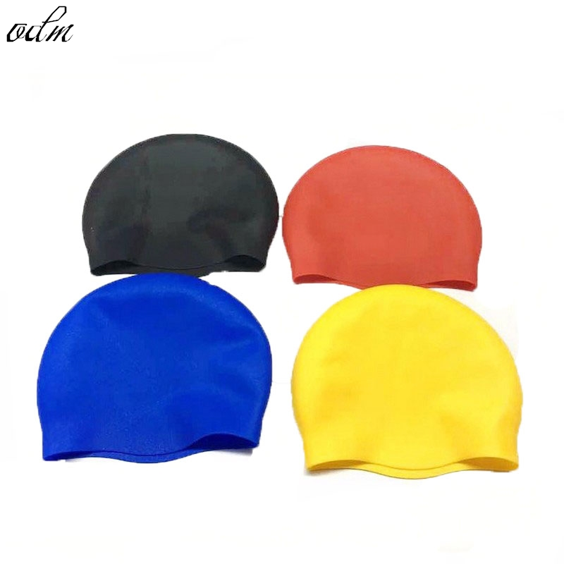 Top Quality Solid Swimming Cap 100% Silicone Swimming Hats Water-proof Adult Caps Men Women Children 1 Piece(China (Mainland))