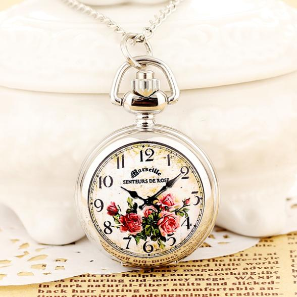 2015 Hot Sale Ladies Pendant pocket Watches Small Clock With Long Chain Quartz Steampunk Mini Gifts