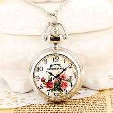 2015 Hot Sale Ladies Pendant pocket  Watches Small Clock  With Long Chain Quartz Steampunk  Mini Gifts  For Women