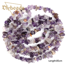 Buy Top Purple Crystal Irregular Gravel Beads Natural Stone 85cm Strand Chips Beads Jewelry Bracelet DIY for $3.53 in AliExpress store