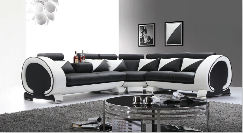couches for living room modern sofa sectional l shap with bonded leather in living room sofas. Black Bedroom Furniture Sets. Home Design Ideas
