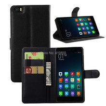 Magnetic Closure pu Leather Wallet Case For XIAOMI Note / MI Note Phone Cover, With id Card Slot, 50pcs/lot