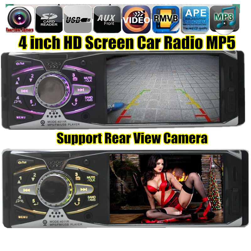 "NEW 4.1"" TFT HD Digital Car radio Stereo FM MP3 MP4 MP5 car Audio Video Media Players w/USB/SD MMC Port Rear view camera In-Dash(China (Mainland))"