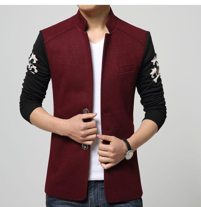 Здесь можно купить  The new spring and summer 2015 men woolen cloth leisure thin jacket  Одежда и аксессуары