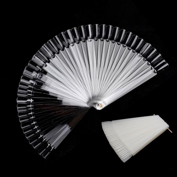 Hot Sale!50 PCS False Fake Nail Design Tips Sticks Christmas Gifts Nail Art White Display Practice Wheels Polish Free Shipping(China (Mainland))