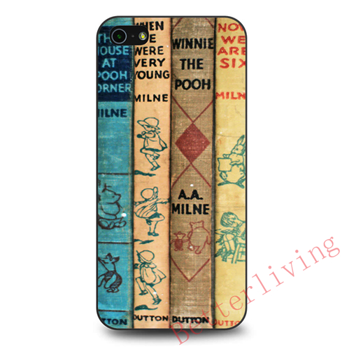 Best Winnie The Pooh Book fashion cell phone case cover for iphone 4 4s 5 5s SE 5c 6 6s & 6 plus & 6s plus #X119(China (Mainland))